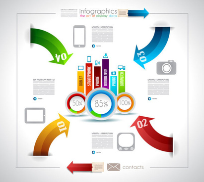 infographics with data design vector