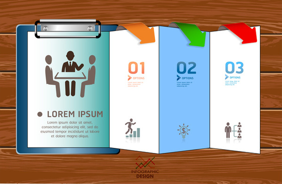 inforgraphic brochure design template