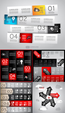 information analysis template vector set