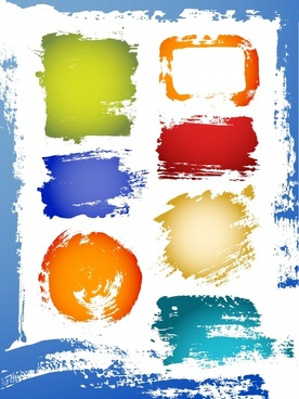 abstract painting colorful grunge ink strokes decor