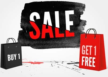 ink marks with sale elements background vector