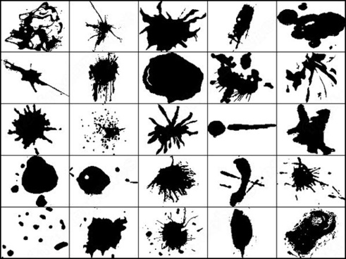 ink splatter brush