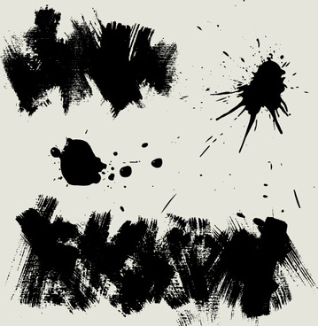 ink splatter grunge vector