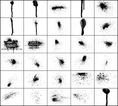 ink spray brush