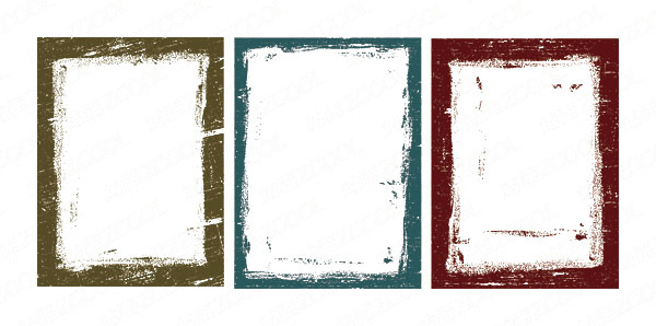 ink style frame 2 vector
