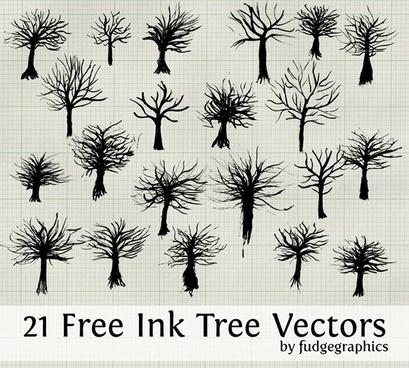 Ink Tree Vectors