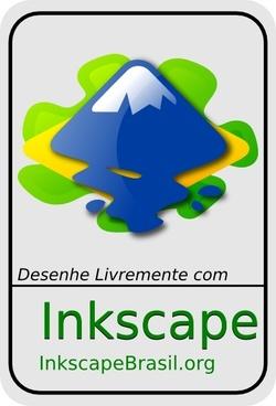 Inkscape With Brasil Logo clip art