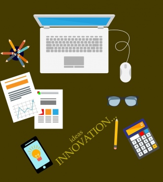 innovation concept banner office devices isolation