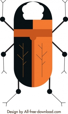 insect background cockroach icon flat closeup design