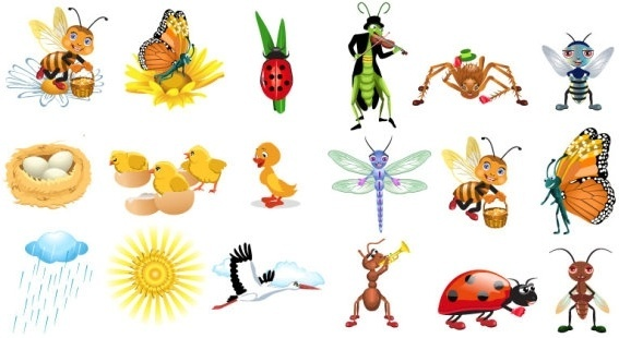 insect vector cute cartoon