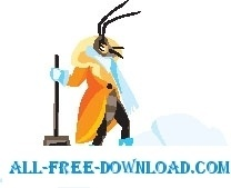 Insect with Snow Shovel