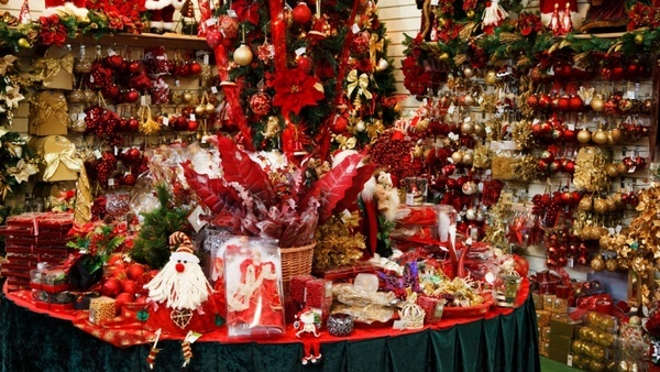 inside a christmas shop