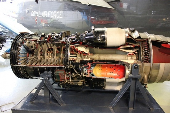inside a jet engine