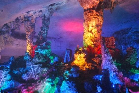 inside limestone cave