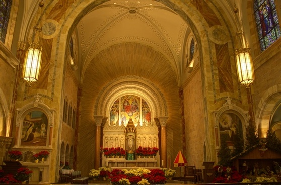 inside the basilica at holy hill wisconsin