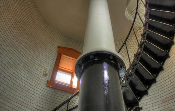 inside the lighthouse at split rock lighthouse minnesota