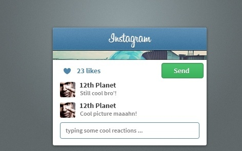 Instagram Widget PSD