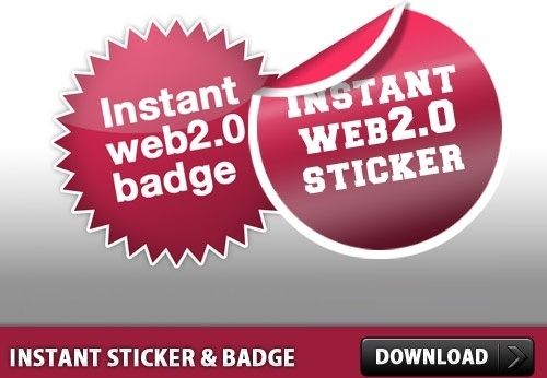 Instant Sticker and Badge PSD