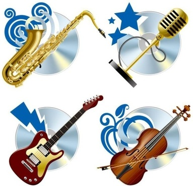 instrument background vector fashion