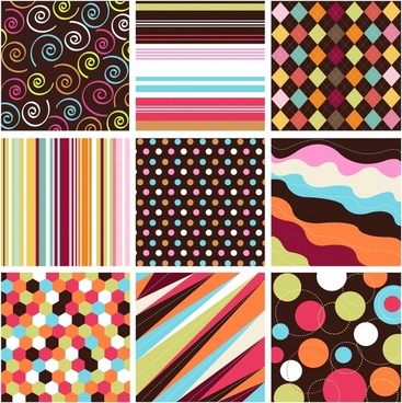 decorative pattern templates colors blended geometric abstraction