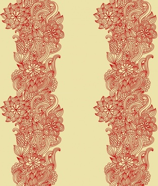 decorative floral templates classical traditional european doodles symmetry
