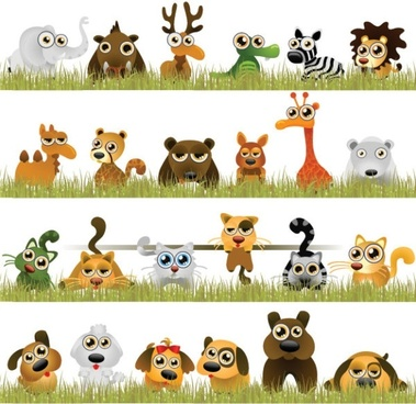 interesting little animals vector