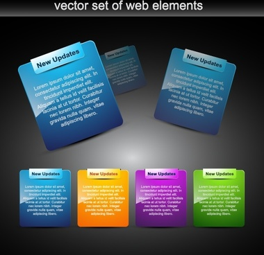 web tags templates shiny modern colored design