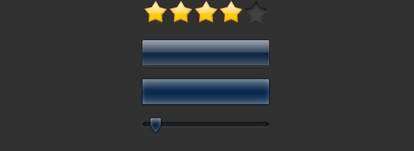 Interface Elements with Star Rating Icons