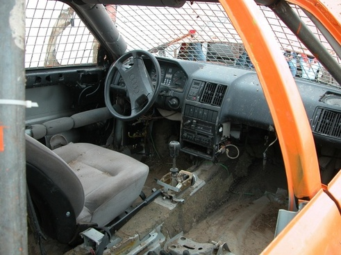 interior demolished auto