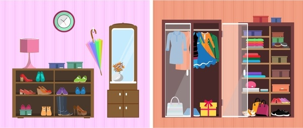 Wardrobe free vector download 23 free vector for commercial use format ai eps cdr svg for Interior design images free download