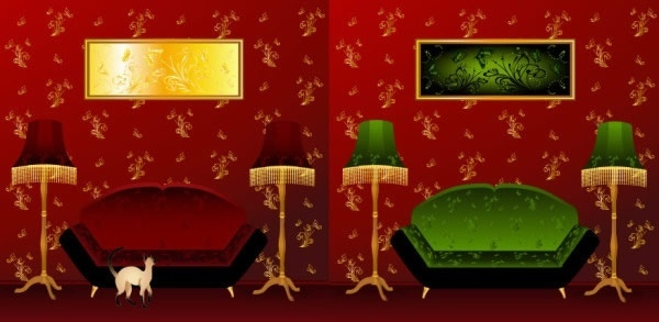 interior decor templates luxury vintage design