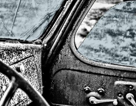 interior truck vintage