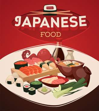 international cuisine publicize template vector