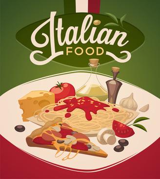 international cuisine publicize template vector