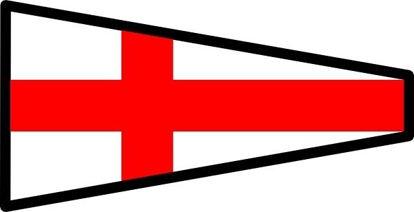 International Maritime Signal Flag 8 clip art