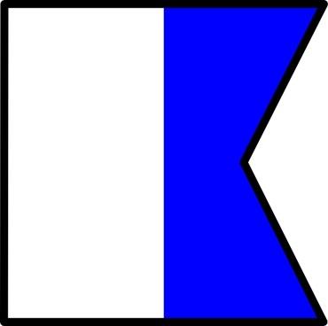 International Maritime Signal Flag Alpha clip art