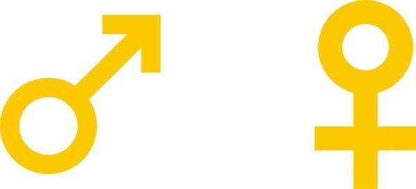 International symbol for male female
