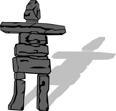 Inuit Inukshuk clip art