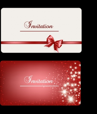 invitation card cover background ribbon sparkling stars ornament