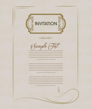 invitation card template retro style