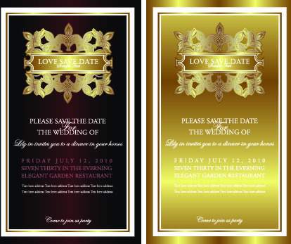 Black and gold invitation free vector download 10318 free vector invitation gold card design vector graphics stopboris Image collections