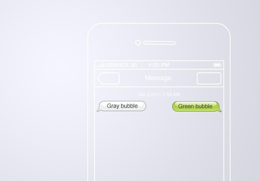 iOS 5 Message bubbles