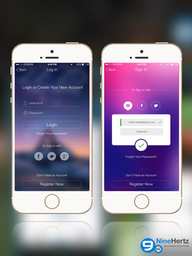ios 8 login screen ui ideas