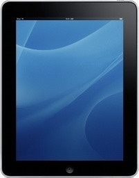 iPad Front Blue Background