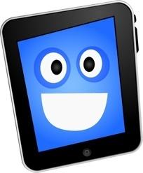 iPad happy