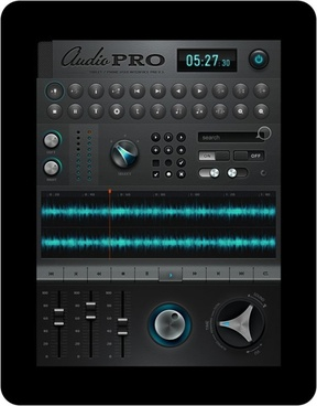 ipad music application software interface design psd layered a