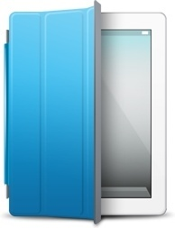 iPad White blue cover
