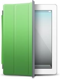 iPad White green cover