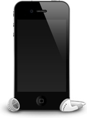 iPhone 4G headphones shadow