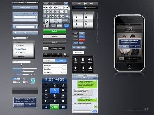 iPhone GUI PSD Source